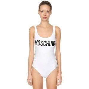 Moschino Women's White Logo Print